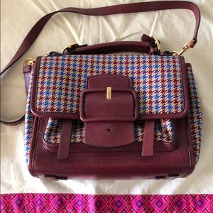 Tory Burch Sawyer Houndstooth Satchel 2017